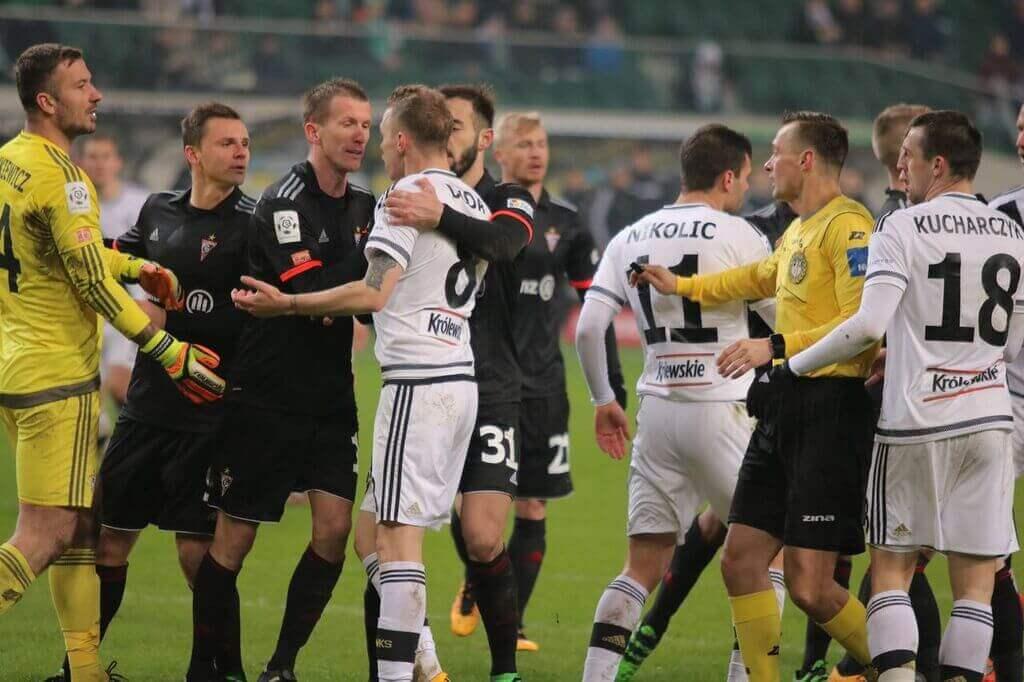 Legia Warszawa Górnik Zabrze kłótnia