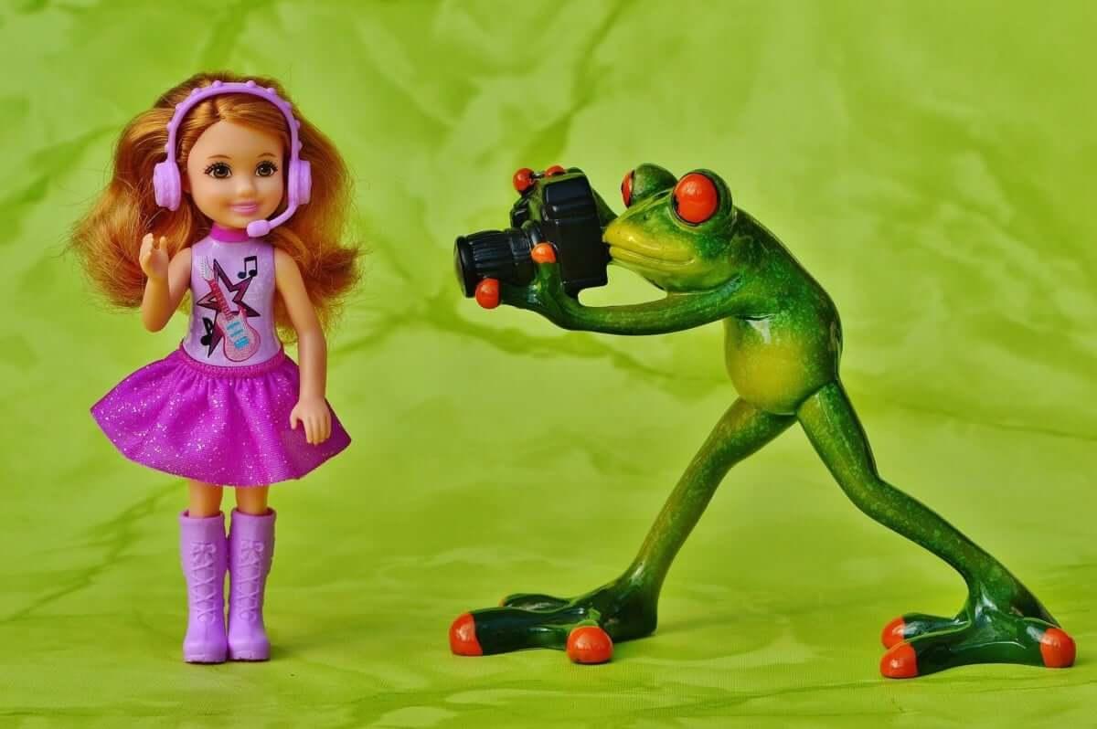 grafika fotograf żaba