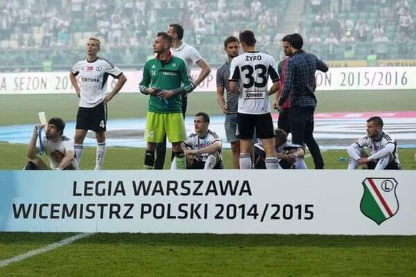 Wicemistrz Legia Warszawa smutek