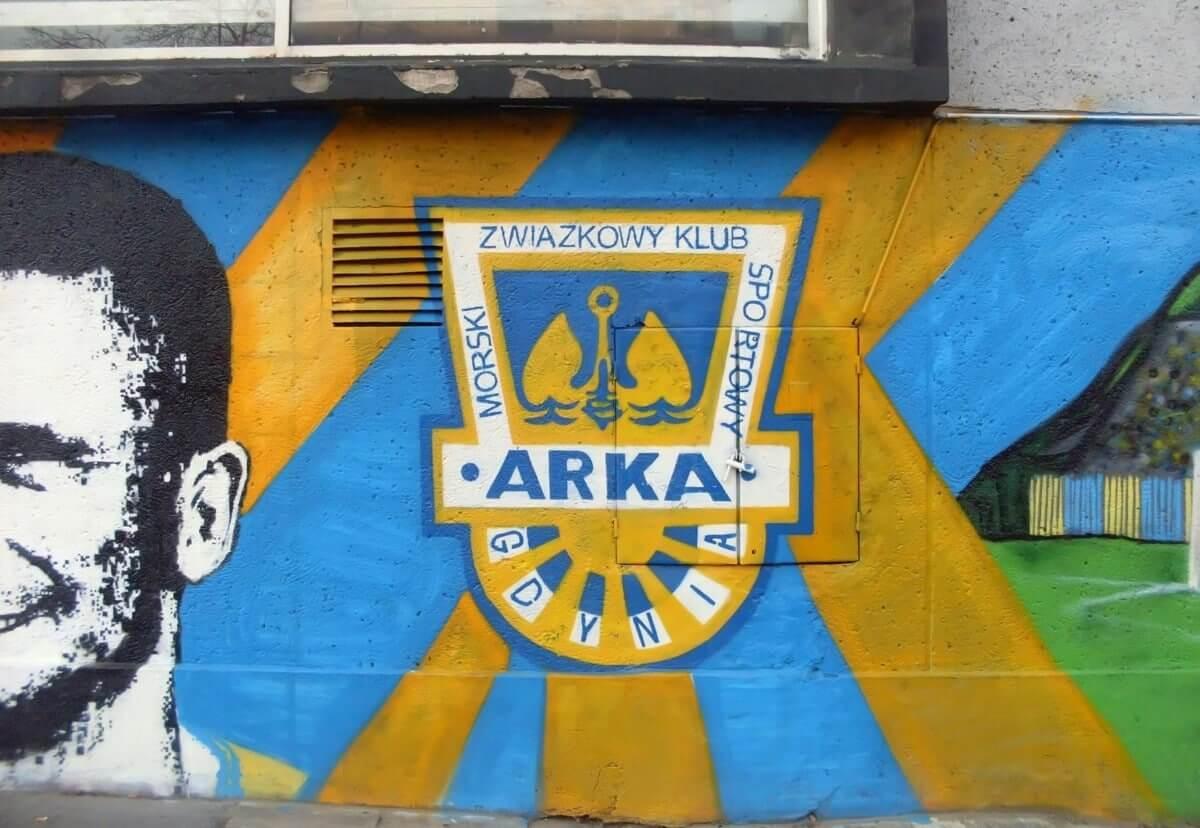 Arka Gdynia herb grafitti