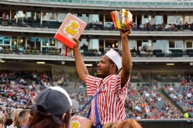 popcorn na stadionie
