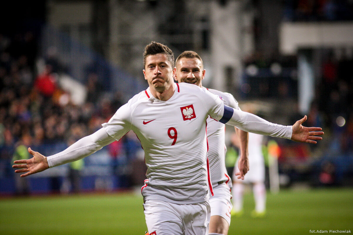 piłkarze reprezentacji - Lewandowski i Jędrzejczyk